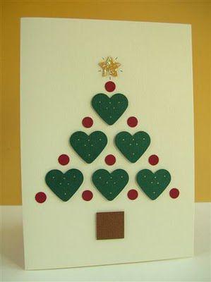 cartão com árvore de corações
