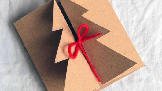 cartão simples e rústico