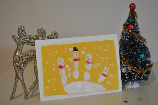 cartão boneco de neve