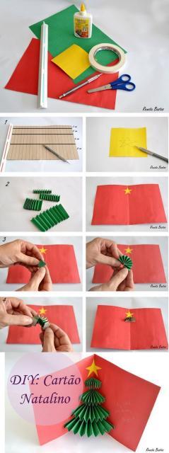 passo a passo cartão criativo