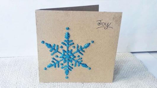 cartão simples papel kraft