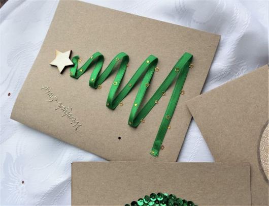 cartão decorado fita