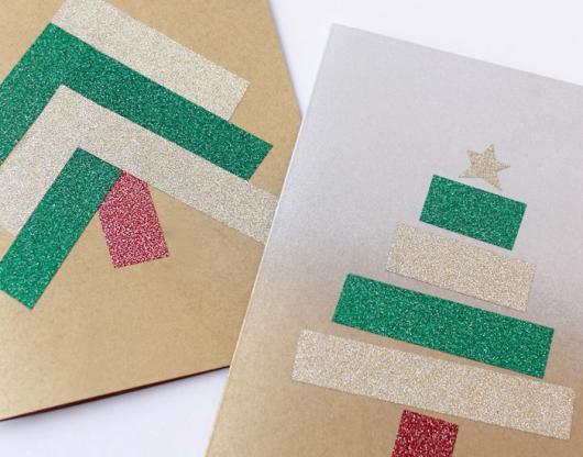 cartão com glitter