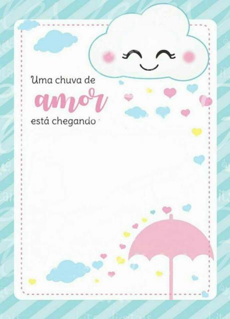 Convite Chuva De Amor 30 Modelos Lindos Para Imprimir Se Inspirar