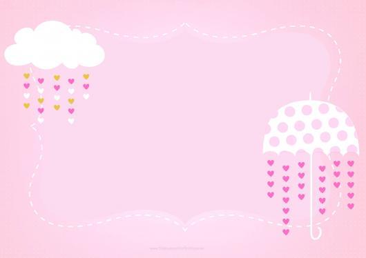 Convite chuva de amor para imprimir