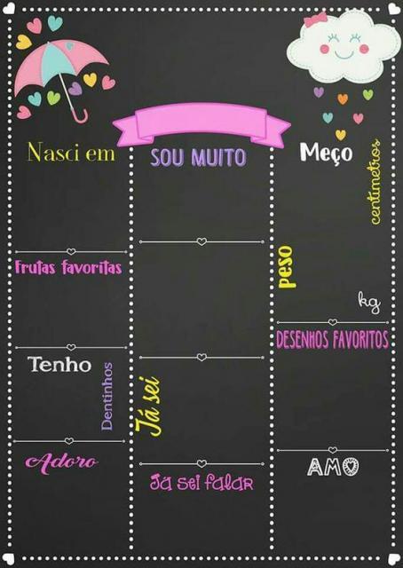 Convite chuva de amor chalkboard