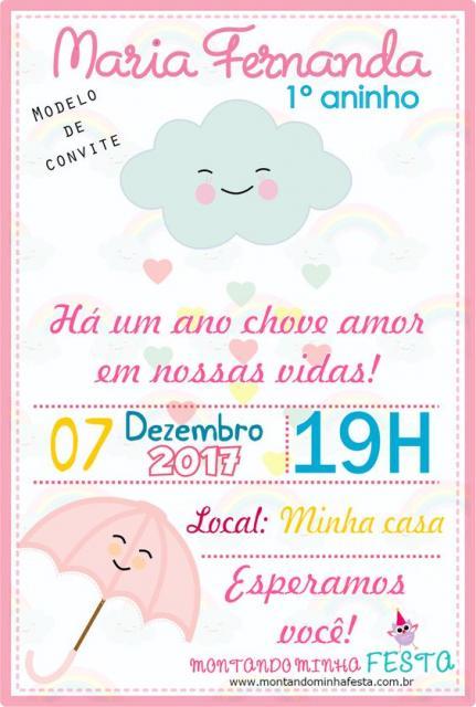 convite chuva de amor  u2013 30 modelos lindos para imprimir