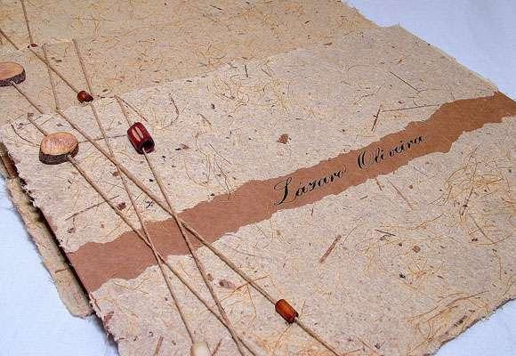 Convite de casamento rústico chique com textura