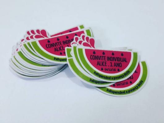 Mais um modelo de Convite Magali em forma de melancia
