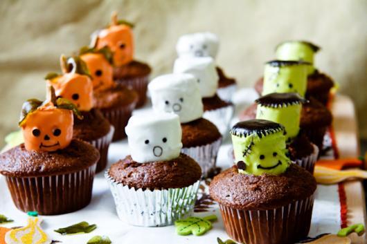 cupcake com marshmallow