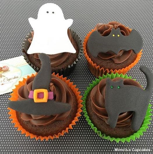 cupcake de chocolate