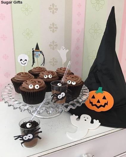 decoração simples cupcake de chocolate