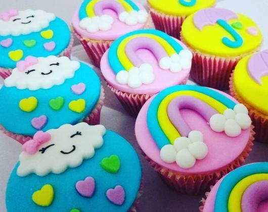 Cupcake personalizado Chuva de Bençãos