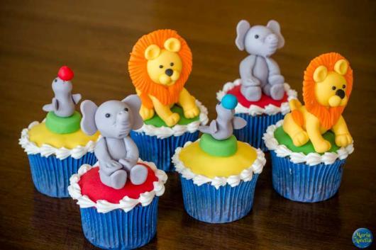 Cupcake personalizado Safari