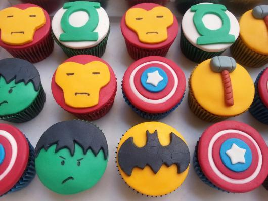 Cupcake Personalizado super heróis