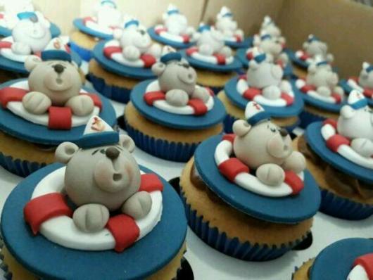 Cupcake personalizado Ursinho Marinheiro