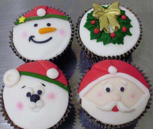 Cupcake personalizado natalino