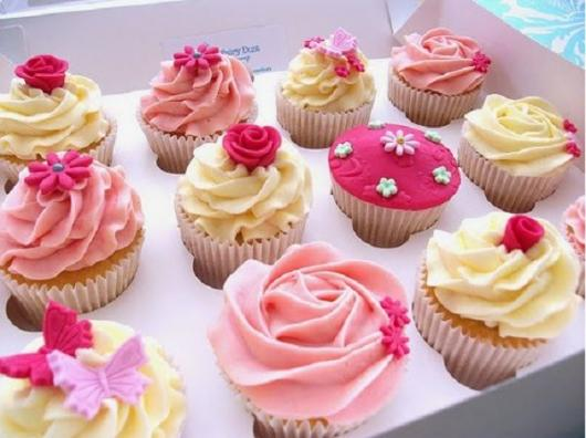 Cupcake personalizado flores