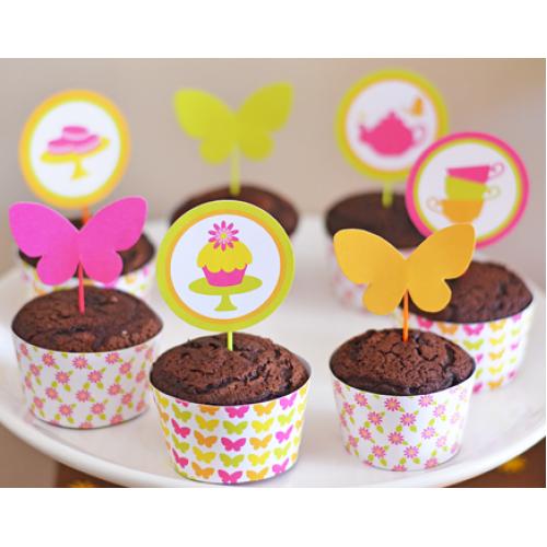 Cupcake personalizado com Wrapper de borboleta