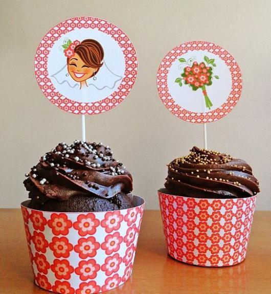Cupcake personalizado com Wrapper para casamento