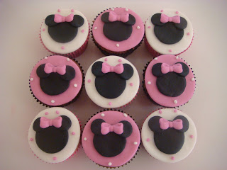 Cupcake personalizado Minnie rosa
