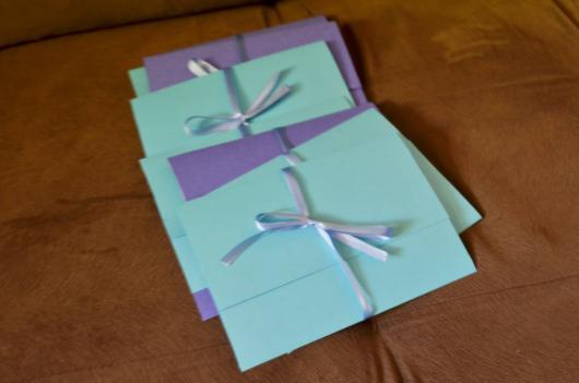 Envelope para convite simples azul tiffany