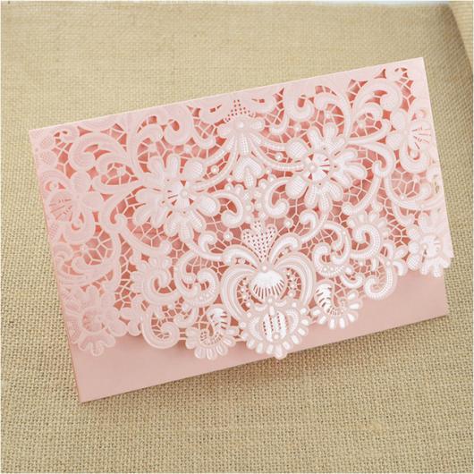 Envelope para convite de casamento rosa
