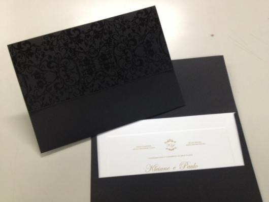 Envelope para convite de formatura preto