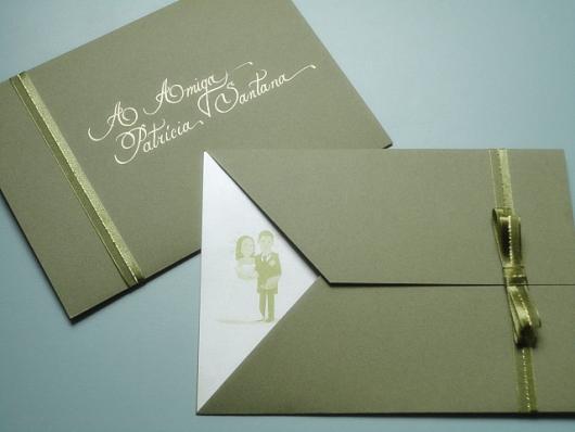 Envelope para convite de formatura verde