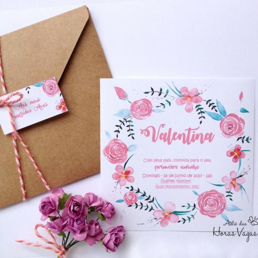 Envelope para convite em papel kraft com laço de barbante