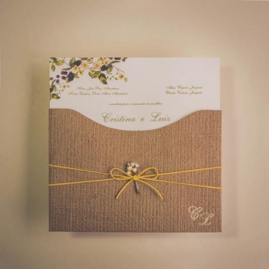 Envelope para convite em papel kraft
