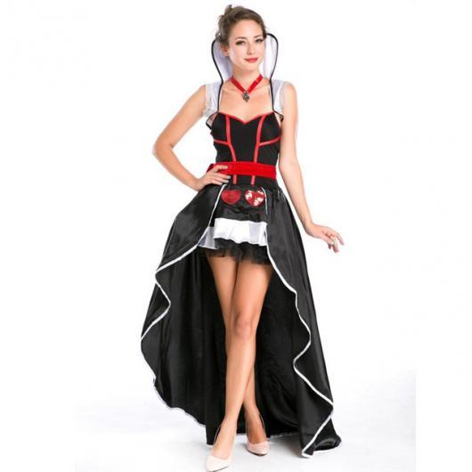 Fantasia de Rainha de Copas com vestido mullet