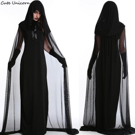 Fantasia com vestido preto original