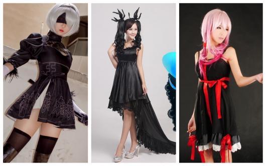 Cosplay também pode ser feito com vestido preto