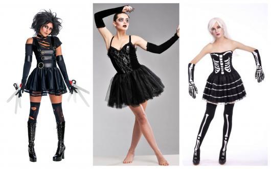 5558578be Fantasia com Vestido Preto – 60 Ideias Criativas Usando seu Vestido!