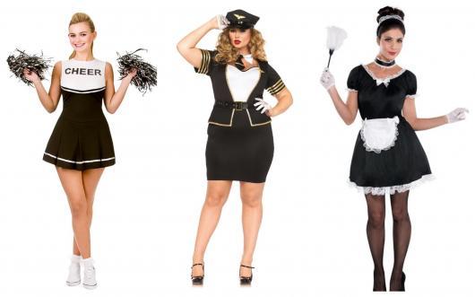 Modelos de fantasias com vestido preto e branco