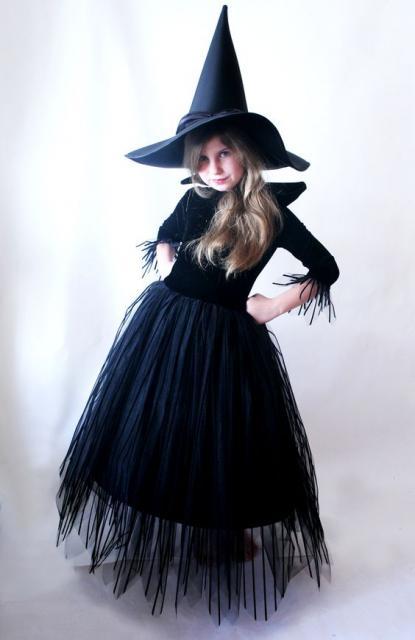 fantasia preta de bruxa