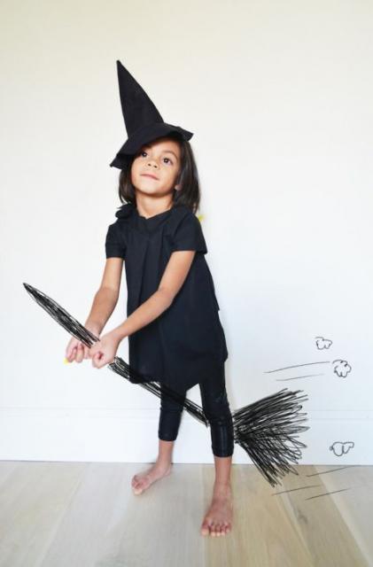fantasia simples de bruxa