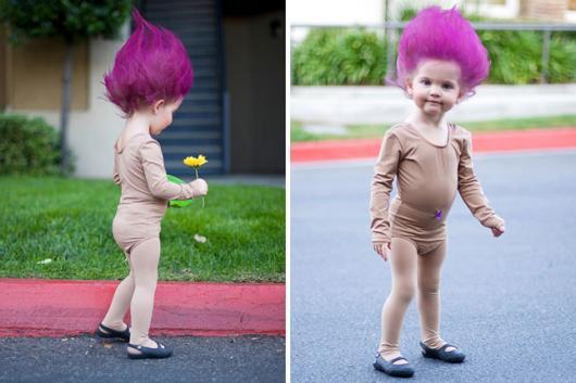 fantasia trolls menina