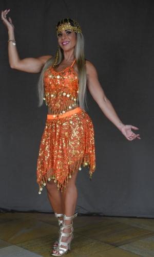 Fantasia odalisca laranja