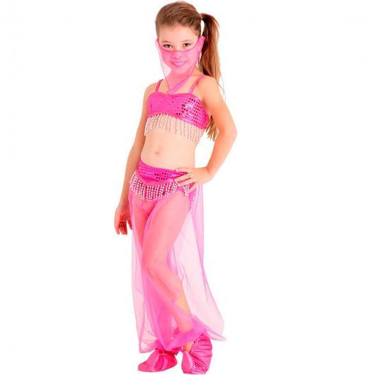 Fantasia odalisca infantil rosa