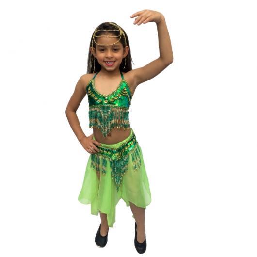Fantasia odalisca infantil verde