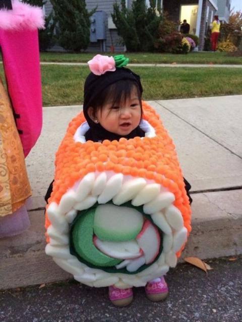 Fantasias engraçadas infantil Sushi