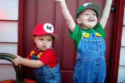 Fantasias engraçadas infantil Mario e Luigi