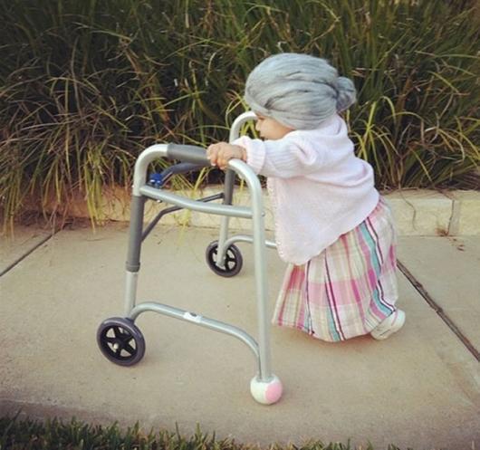Fantasias engraçadas infantil velhinha