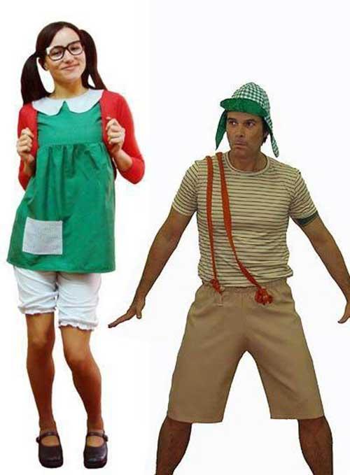 Fantasias engraçadas para casal Chaves e Chiquinha