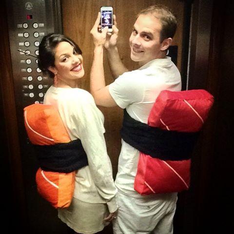 Fantasias engraçadas para casal Sushi e Sashimi