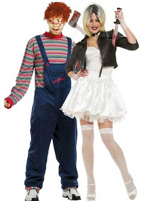 Fantasias engraçadas para casal Chuck e Mulher