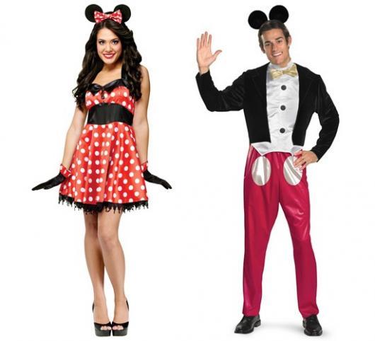 Fantasias engraçadas para casal Michey e Minnie