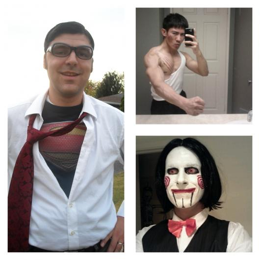 Superman, Bruce Lee e Jigsaw também estão no hall de fantasias criativas masculinas famosas